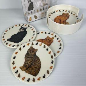 Cute Cat Coasters in box - Set of 6